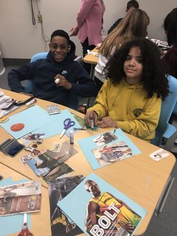 LCJSMS Students Create Memory Books with Grace Healthcare
