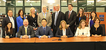 Photo of BOE and Cabinet for the 2017-2018 school year.